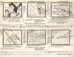 Super Friends Storyboard #127 p.10 - Superman, Batman, & Robin Action  Comic Art
