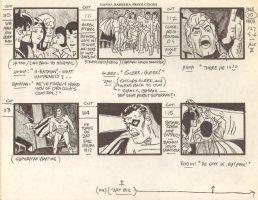Super Friends Storyboard #127 p.25 - Batman, Robin, Aquaman, Wonder Woman, Wonder Twins vs. Vampire Superman  Comic Art