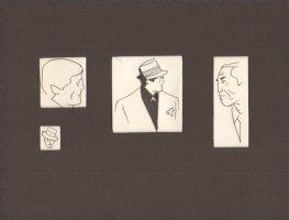 Four Portraits with Matte Comic Art