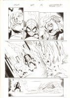 Amazing Spider-Man #659 p.5 - Spidey on Ghost Rider's Bike vs. Demon - 2011  Comic Art