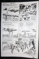 Fantastic Four #21 p.15 - LA - Mr. Fantastic Stretch Action - 1963 Signed Comic Art