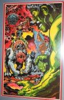 Hulk vs. Cosmic Bad Guy Painted Art - LA - ALL Original Art by Jack Kirby - 1982 Signed