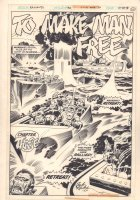 Kamandi, The Last Boy on Earth #39 p.11 - 'To Make Man Free' Chapter 3 Splash - 1976 Signed Comic Art