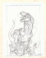 Jurassic Park / World? Pencil Cover Prelim - Signed  Comic Art