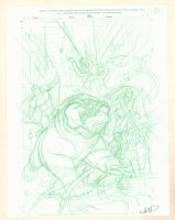 Inhumans and Spider-Man #A Pencil Cover Prelim - Signed Comic Art