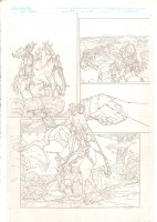 Rokkin #3 p.13 - Hero & Babe Riding to Town - 2006 Signed Comic Art