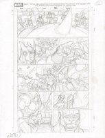 Marvel ? Interior p.12 Layout - Villains Action - Signed Comic Art
