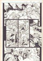 Uncanny X-Men Annual #3 p.? - Cyclops and Hope Summers vs. Aliens - 2011  Comic Art