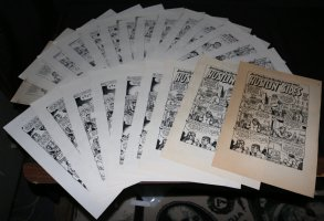 Hustlin' Sides and How I Quit Collecting Records LOT of 23 Vintage Copies Comic Art