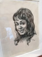 Kathy Portrait - 1970 Signed Comic Art