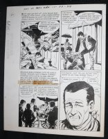 Sons of Katie Elder #1 F3 p.19 - Dell - John Wayne - Barfight - 1965 Comic Art