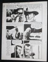 Sons of Katie Elder #1 F7 p.23 - Dell - John Wayne Story - Imprisoned - 1965 Comic Art