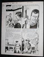 Sons of Katie Elder #1 F7 p.26 - Dell - John Wayne Story - Imprisoned - 1965 Comic Art