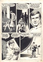 The Six Million Dollar Man Magazine #2 p.45 - 1976 Comic Art