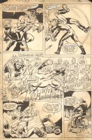 Ghost Rider #59 p.12 - Johnny Blaze Beats Up Outlaw Bikers - 1981 Comic Art