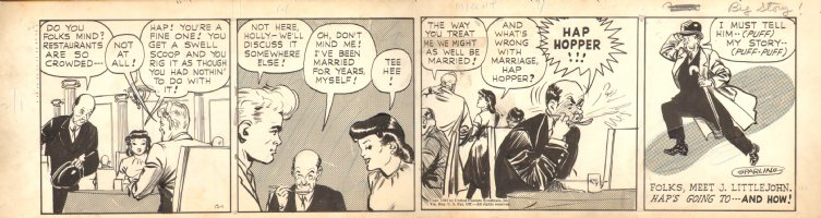 Big Story! - Strip Art By Jack Sparling - 12/1/1942 Comic Art