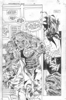 Resurrection Man #7 p.11 - Batman vs. Killer Croc Splashy Comic Art
