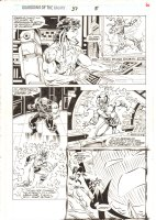 Guardians of the Galaxy #37 p.6 - Major Victory, Charlie-27, & Yellowjacket (Rita DeMara) vs. Dormammu - 1993 Comic Art