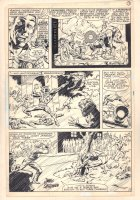 The Spectacular Spider-Man Annual #3 p.2 - Man-Wolf Causing Chaos - 1981 Signed Comic Art