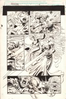 Wolverine: Knight of Terra #1 p.43 - Cyclops, Jean, & Storm - 1995 Signed Comic Art