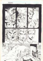 Wolverine: Knight of Terra #1 p.60 - Wolverine with Wolfsbane - 1995 Signed Comic Art
