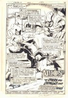 Warlord #59 p.2 - Arion, Lord of Atlantis in 'Of Lovers and Demons and Sorcerous Things' Title Splash - 1982 Signed Comic Art