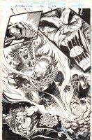 X-Men 2099 #32 p.22 - Wolverine? Splash - 1996 Signed Comic Art