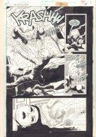 Tangent Comics / Nightwing #1 p.35 - Werewolf Attack - 1997 Signed Comic Art