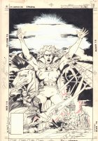 Arion, Lord of Atlantis Special #1 Cover - 1985 Signed Comic Art