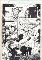 X-Men 2099 #32 p.13 - Babe Hero Statue Splash - 1996 Signed Comic Art