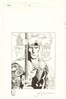 Elric: The Vanishing Tower #6 Cover - 1988 Signed Comic Art