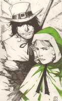 Gambit and Rogue Thanksgiving Pilgrim Versions - 2008 Signed Comic Art