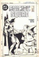 Suicide Squad #10 Cover - Batman and Amanda Waller - 1988