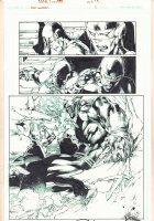 Red Lanterns #2 p.13 - Atrocitus Action Splash - Blue Line Ink Art only of Ed Benes Pencils - 2012 Signed Comic Art