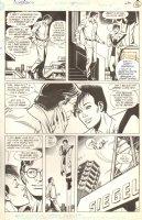 Superboy #5 p.12 - Clark & Tara fly around - 1990 Signed Comic Art