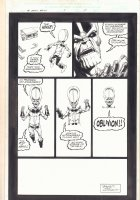 Infinity Abyss #5 p.15 - Thanos Doppelganger Disappears - 2002 Comic Art