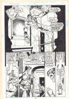 Green Lantern #95 p.9 - Great Green Lantern Flying 1/2 Splash - 1998 Comic Art