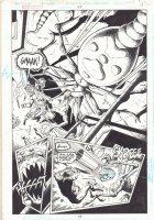 Green Lantern #95 p.12 - Kyle Rayner vs. Bug Monster Splash - 1998 Comic Art