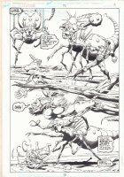 Green Lantern #95 p.13 - Green Lantern vs. Giant Bug Action Splash - 1998 Comic Art