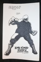 King Kong Bundy Series Two Pin-Up Comic Art