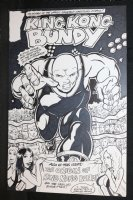 King Kong Bundy Finished Cover Comic Art