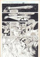 Doctor Strange, Sorcerer Supreme #36 p.18 - Adam Warlock vs. Doctor Strange, Gamora, and Pip - 1991 Comic Art