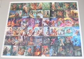 Uncut Sheet of 60 Tarzan Cards #1 Comic Art