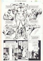 Just Imagine Stan Lee Creating the DC Universe Omnibus p.18 - Prison Lifting Splash - 2013 Comic Art