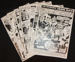 Tales of Suspense #90 Vintage Production STATS - 'The Golden Ghost!' Complete 12 Page Story - 1967 Comic Art