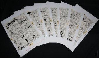 Superman vs. Mr. Mxyzptlk 7 Page Story STATs - 1962 Comic Art