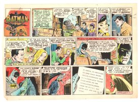 Batman with Robin the Boy Wonder Sunday Strip Color Guide and Negative - Rome - 2/9/1969 Comic Art