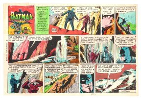 Batman with Robin the Boy Wonder Sunday Strip Color Guide and Negative - Batman and Babe - 11/3/1960's Comic Art
