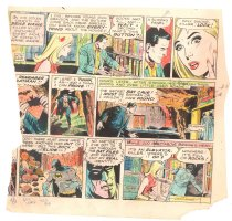 Batman with Robin the Boy Wonder Sunday Strip Color Guide and Negative - Batcave - 1960's Comic Art