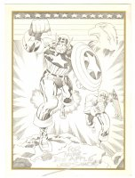 Captain America Pencil Commission Originally by Jack Kirby Print - Signed by Joe Simon Comic Art
